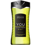 AXE YOU Clean Fresh pánsky sprchový gél 6v1 250ml