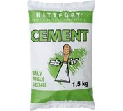 Cement biely KITTFORT 1,5 kg