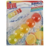 Dr. Devil Lemon Fresh BiColor 5Ball čistiaci dezinfekčný prostriedok do WC 35g
