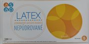 Latex rukavice nepudrované S/100ks