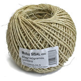 Motúz Sisal Natural, 060 m/140g, BallPack