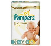 Pampers Premium Care plienky 3 Midi 60 ks