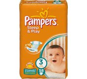 Pampers Sleep&Play 3 midi 58ks