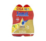 Somat Gold Grease Cutting Lemon & Lime Gél do umývačky riadu 2x990 ml