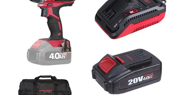 97a64f28841bc Worcraft sada AKU-Skrutkovač 20V + 2x batéria + brašna + nabíjačka