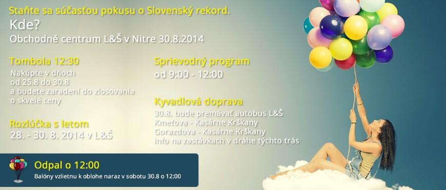 Slovenský rekord vo vypúšťaní balónov